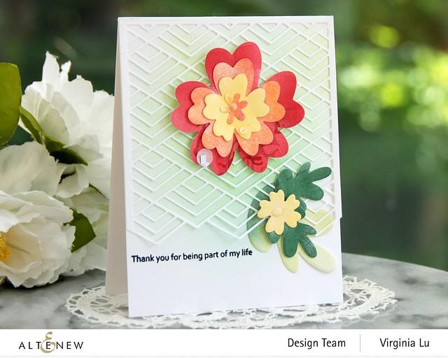 Altenew-Simple Nesting Flowers Layering Die Set-Stacked Diamonds Cover Die-001