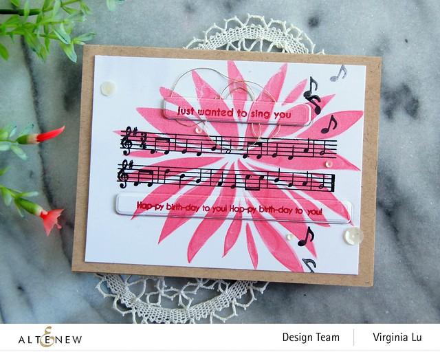 Altenew-Featured Sentiments Die Set-HappyBirthdayTo You-Bursting Dahlia Stencil-003