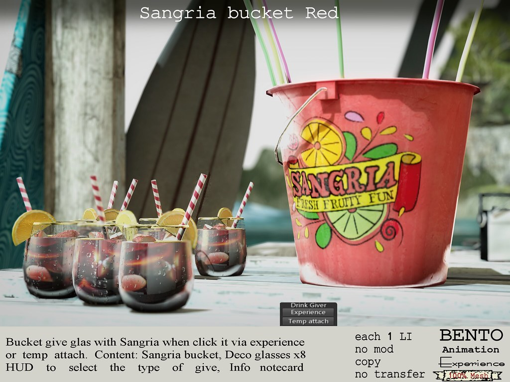 Sangria bucket Red