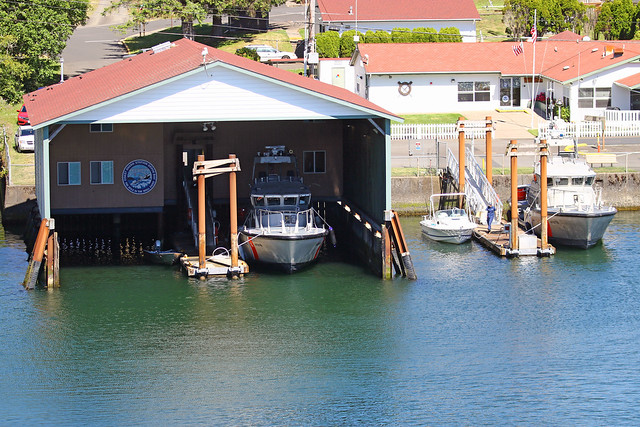 The So-so Depoe Bay Coast Guard Boat House In The World's Smallest Harbor