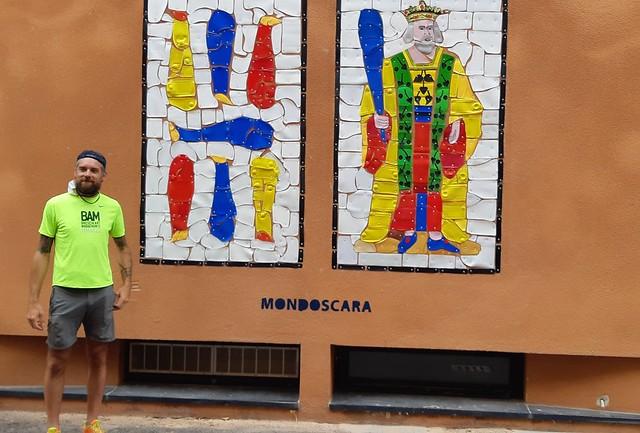 Street Art: Conclusa l'installazione permanente dell'opera di Mondoscara sulla parete del Teatrino