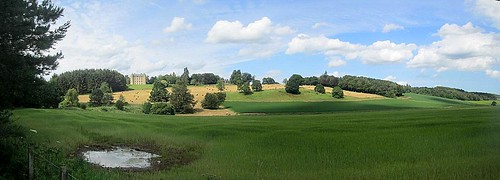 Methven Castle, Perth and Kinross, in its Landscape