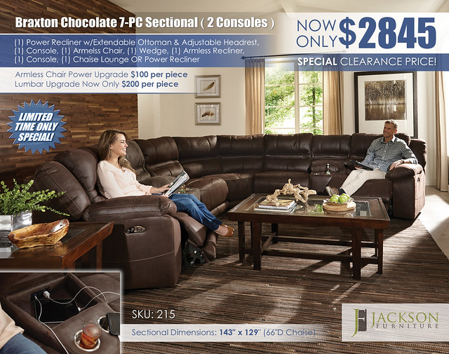 Braxton Chocolate 7PC Sectional_215_Catnapper_Jackson