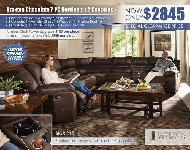 Braxton Chocolate 7PC Sectional_215_Catnapper_Jackson