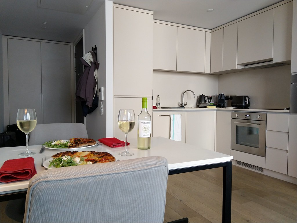 Eating in the kitchen, CitySuites Manchester