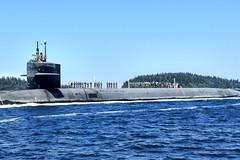 USS Henry M. Jackson (SSBN 730) returns home, Aug. 5.  (U.S. Navy/Courtesy of Joseph Inciong)