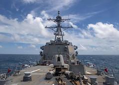 USS Mustin (DDG 89) transits the Taiwan Strait, Aug. 18. (U.S. Navy/MC3 Cody Beam)