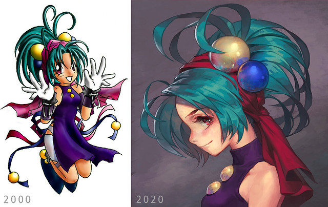 Purple Girl: Before and After