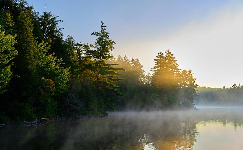 Golden Light on Smoke Lake