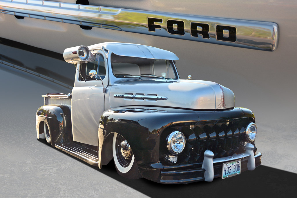 Extra Teeth 51 Ford F1 Pickup This Customized 1951 Ford Flickr