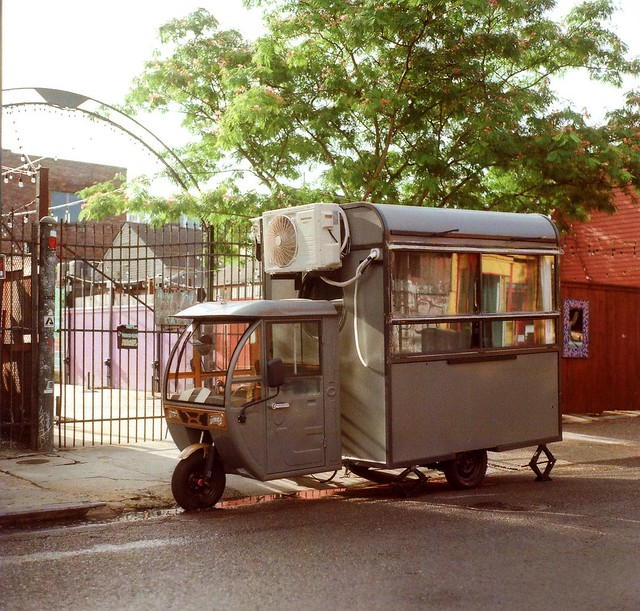 Food Truck In Faubourg Marigny of New Orleans