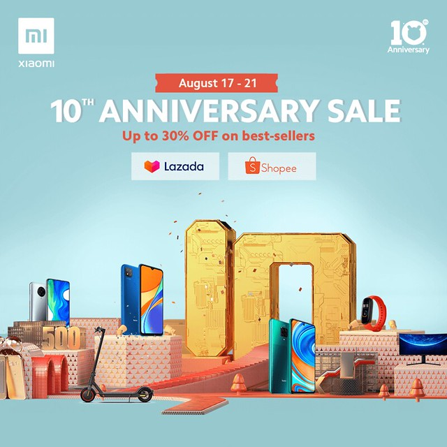 Xiaomi Celebrates their 10 Years with a BIG Sale Online
