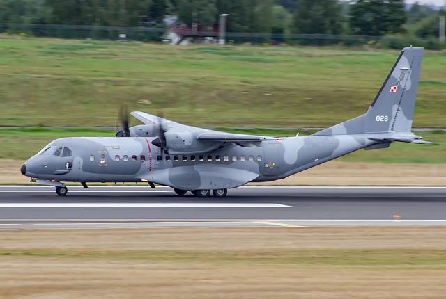 026, CASA C-295M, Poland - Air Force, EYVI, 18AUG