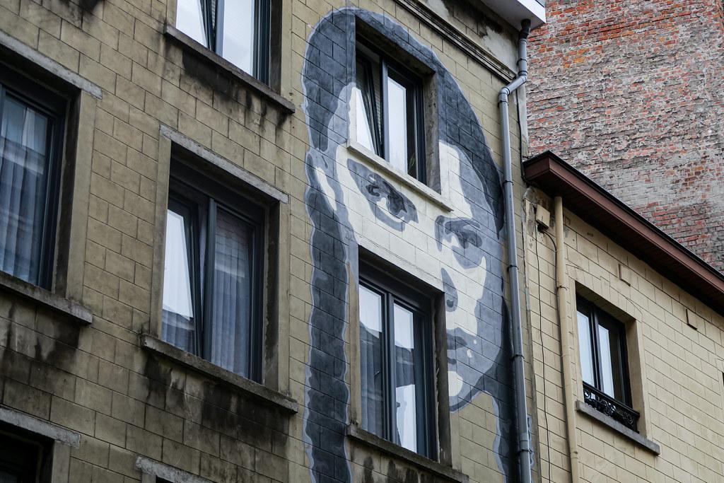 Greta Thunberg mural by street art ENCQ