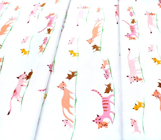 Windham Fabrics Heather Ross 20th Anniversary 40931A-5 Morning Cats