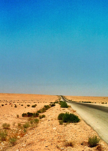 Somewhere between Damascus and Homs, Syria
