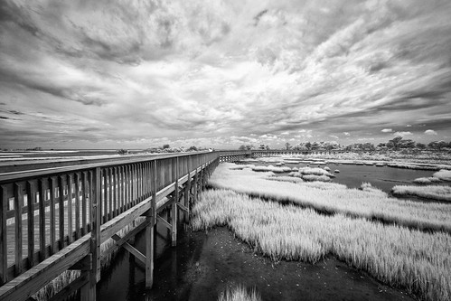 niksilverefex infrared 720nm sky clouds water walkway leadinglines drama landscape wideangle maryland