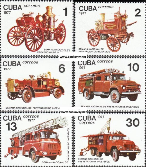 Známky Kuba 1977 Hasičské autá