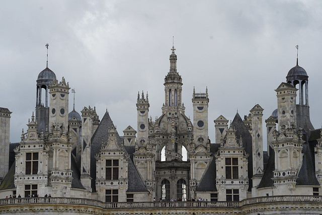 Roofs of Chambord castle