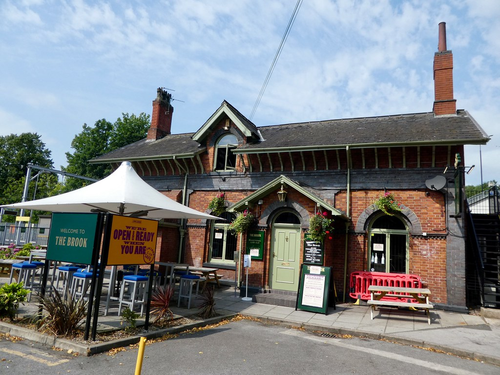 Old station cafe at Brooklands Metrolink Station