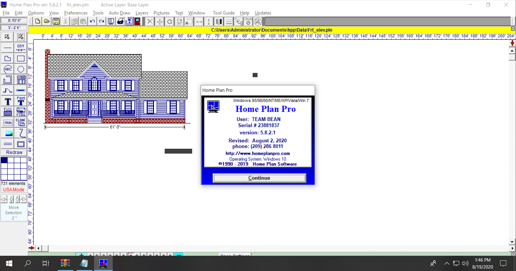 Working with Home Plan Pro 5.8.2.1 full license