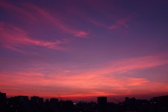 Evening came.