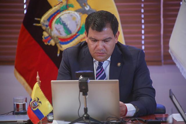 PRESIDENTE DE LA ASAMBLEA CÉSAR LITARDO EN LA 5TA CONFERENCIA MUNDIAL DE PRESIDENTES DE PARLAMENTO. QUITO, 19 DE AGOSTO DEL 2020