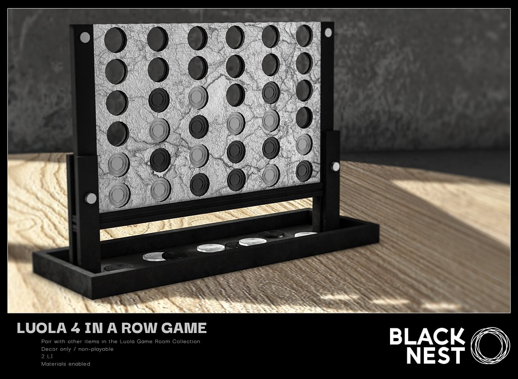 BLACK NEST / Luola 4 in a Row Game / Group Gift