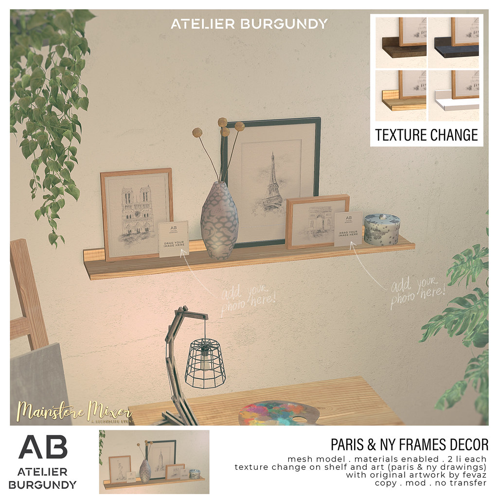 Atelier Burgundy . Paris & NY