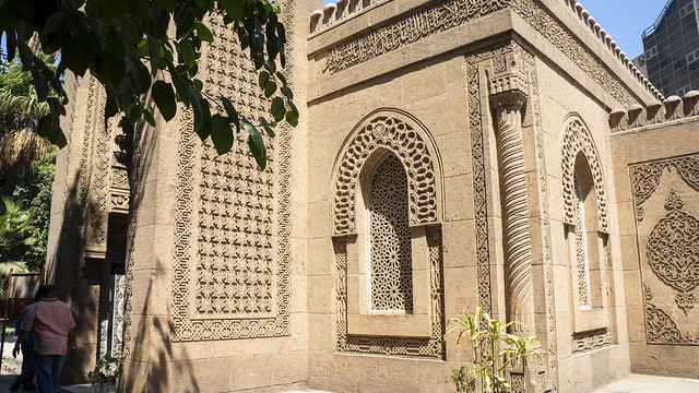 Outside Egypt's Prince Mohamed Ali Mosque in his estate in Cairo