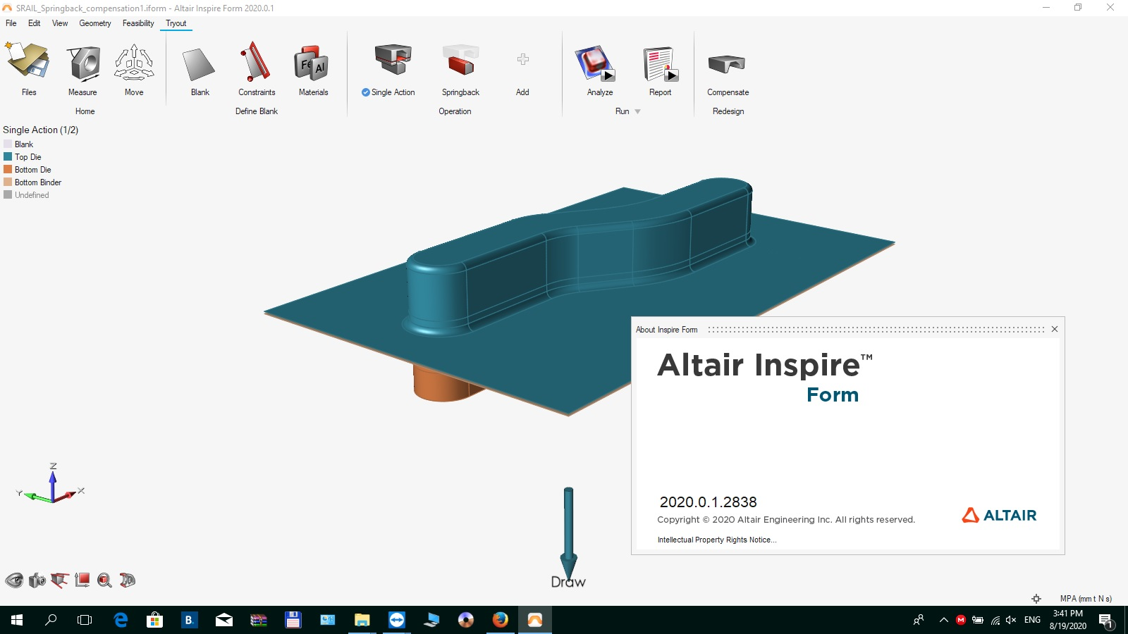 Working with Altair Inspire Form 2020.0.1 Build 2838 Win64 full