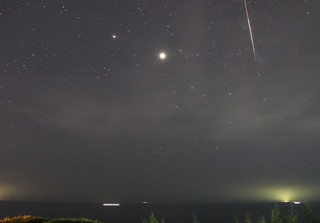 Perseid meteor over the Sea of Japan: August 13, 2020