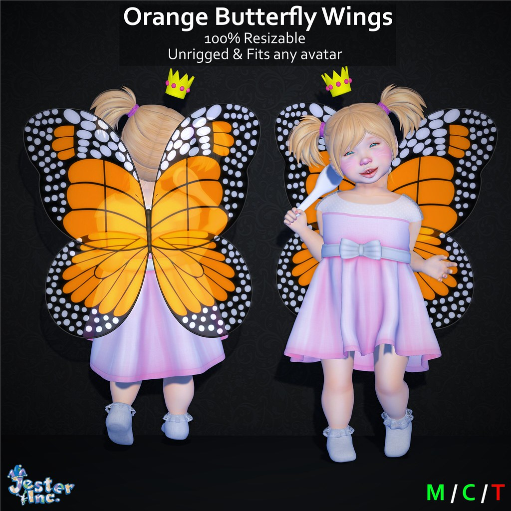 Presenting the new Butterfly Wings from Jester Inc.