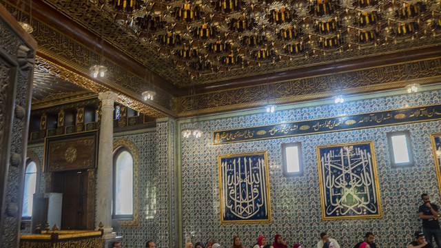 Inside of the Mosque at Egypt's Prince Mohamed Ali Palace