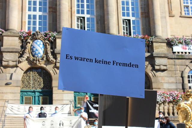 19.08.2020: Mahnwache anlässlich des rassistischen Anschlags in Hanau vor 6 Monaten