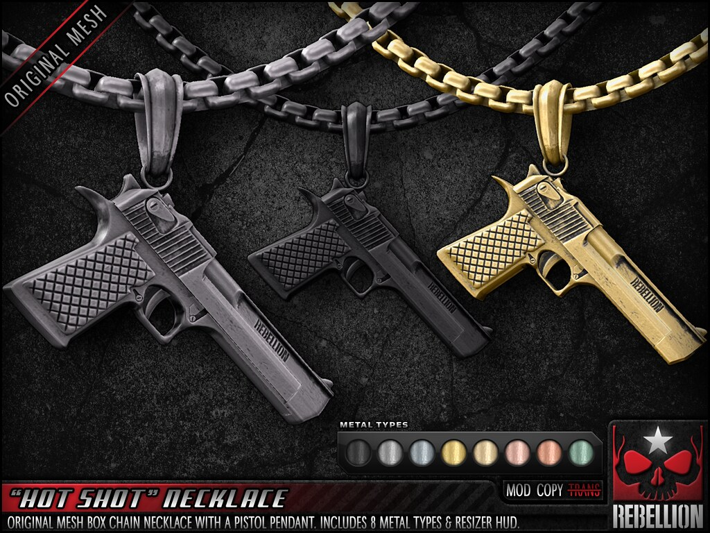 "= REBELLION = ""HOT SHOT"" NECKLACE"
