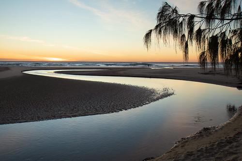 morning creek beach ocean sunshinecoast coolum stumerscreek australia landscape sky outdoor sea coast sunrise waves