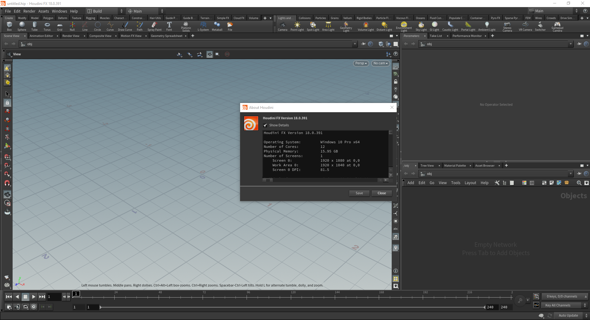 Working with SideFX Houdini FX 18.0 full license