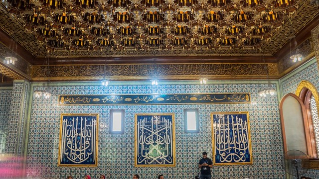 Inside the mosque of Egypt's Prince Mohamed Ali estate in Cairo