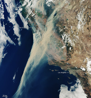 California on fire | by europeanspaceagency