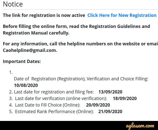 Delhi ITI Admission 2020 - Revised Schedule