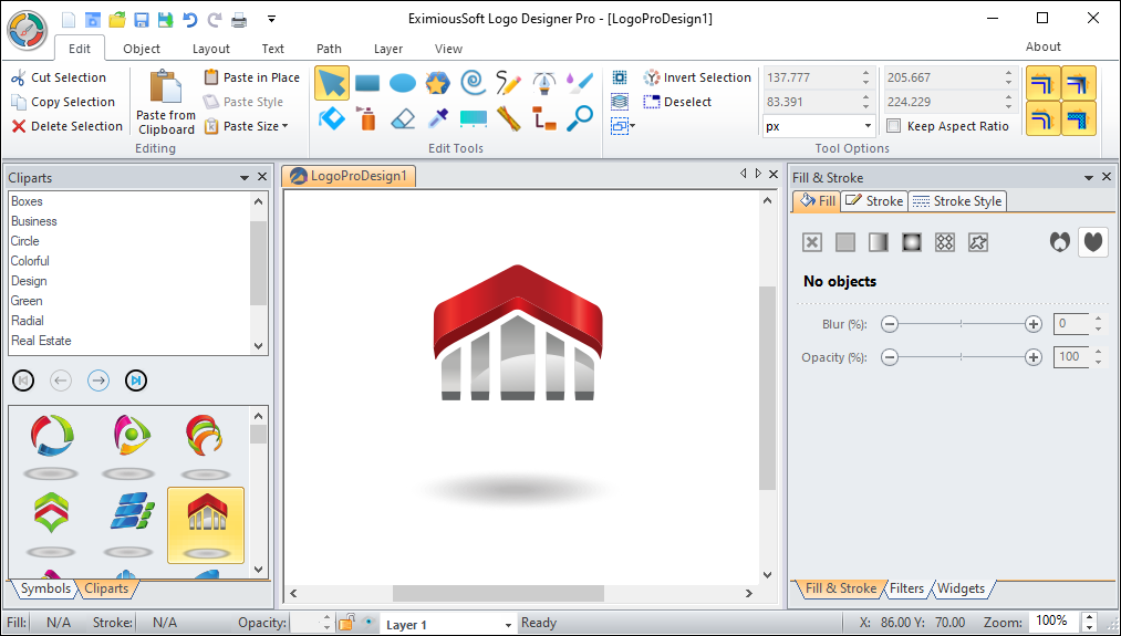 Working with EximiousSoft Logo Designer Pro 3.65 full