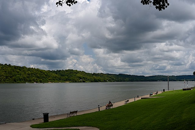 Clouds over the Ohio River