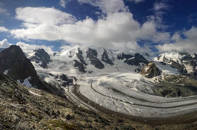 Piz Trovat et glacier Pers