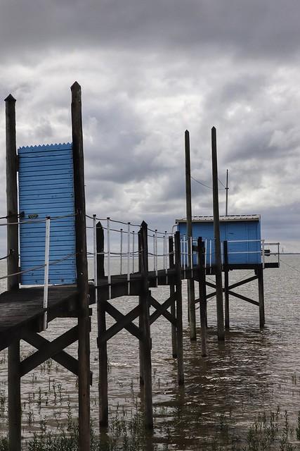 Le carrelet bleu de Meschers-sur-Gironde