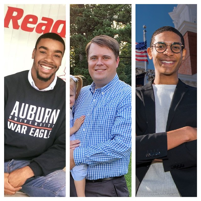 Auburn students (from left to right) Messiah Williams-Cole, Brandon Fincher and Jamie Lowe