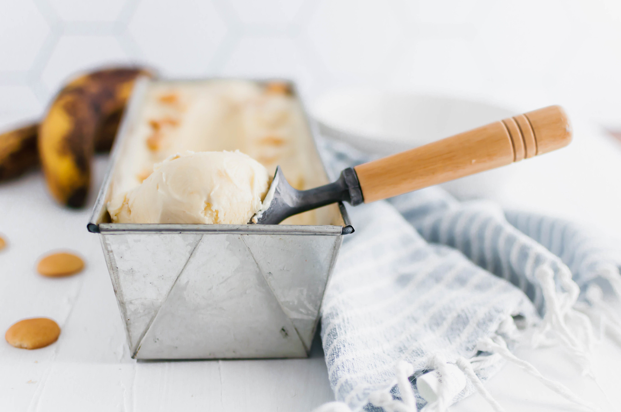 This Banana Pudding Ice Cream is a fun spin on the classic dessert. Banana pudding, fresh bananas and Nilla wafers combine to create a creamy, fruity ice cream perfect for the end of summer.