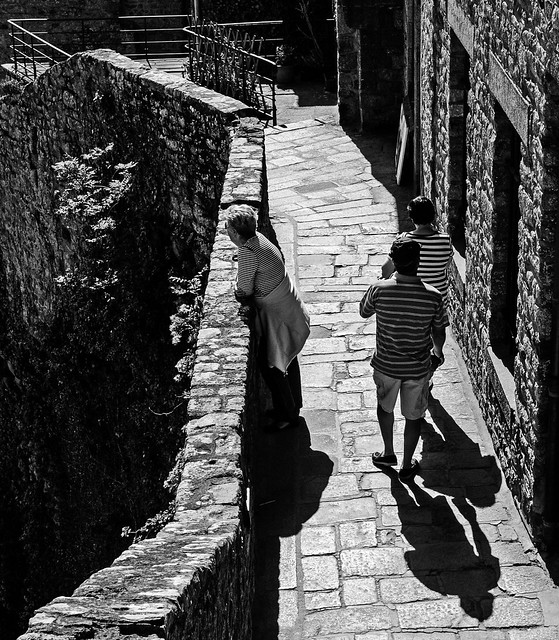 On the ramparts - Mont St Michel
