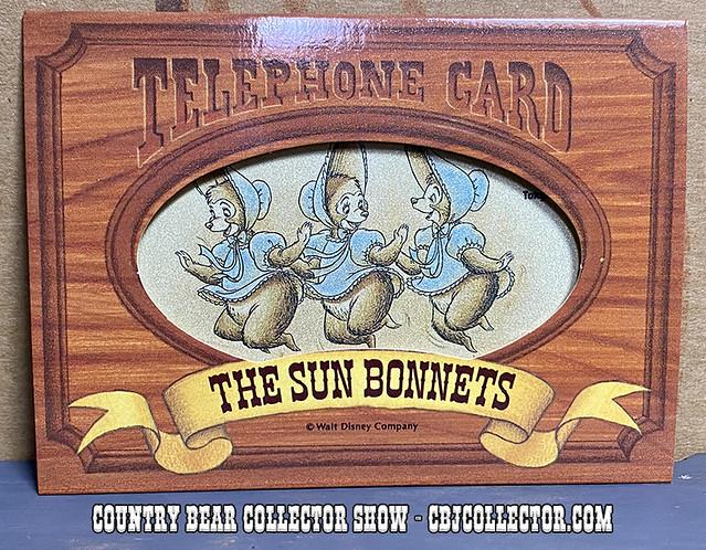 Vintage Tokyo Disneyland Sun Bonnets Phone Card - CBCS #268