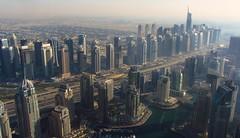 View from Princess Tower to Dubai Marina and Sheik Zayed Road